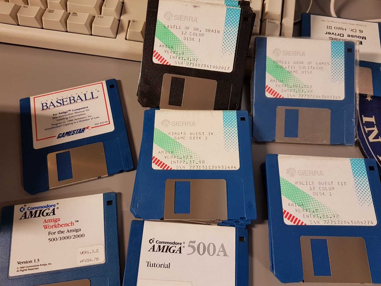 5 -  Various floppies including originals of some Sierra games.