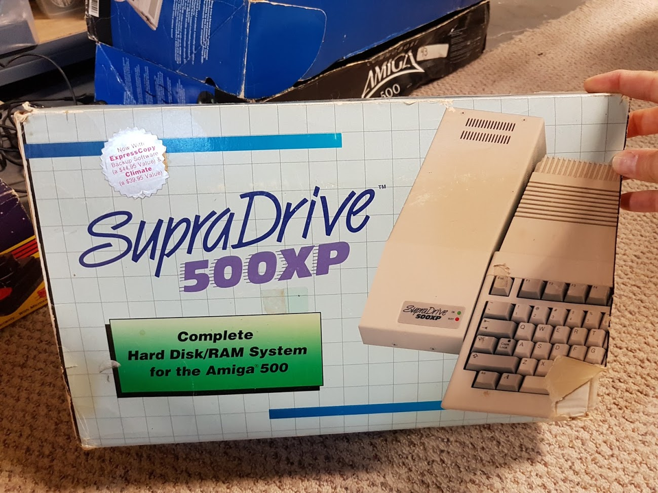 14 -  SupraDrive 500XP external RAM expansion and SCSI drive.