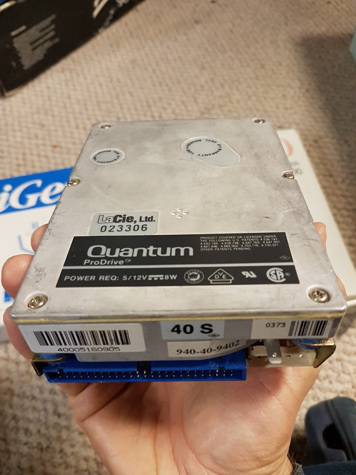 16 -  Random 40 meg Quantum drive included in the box.