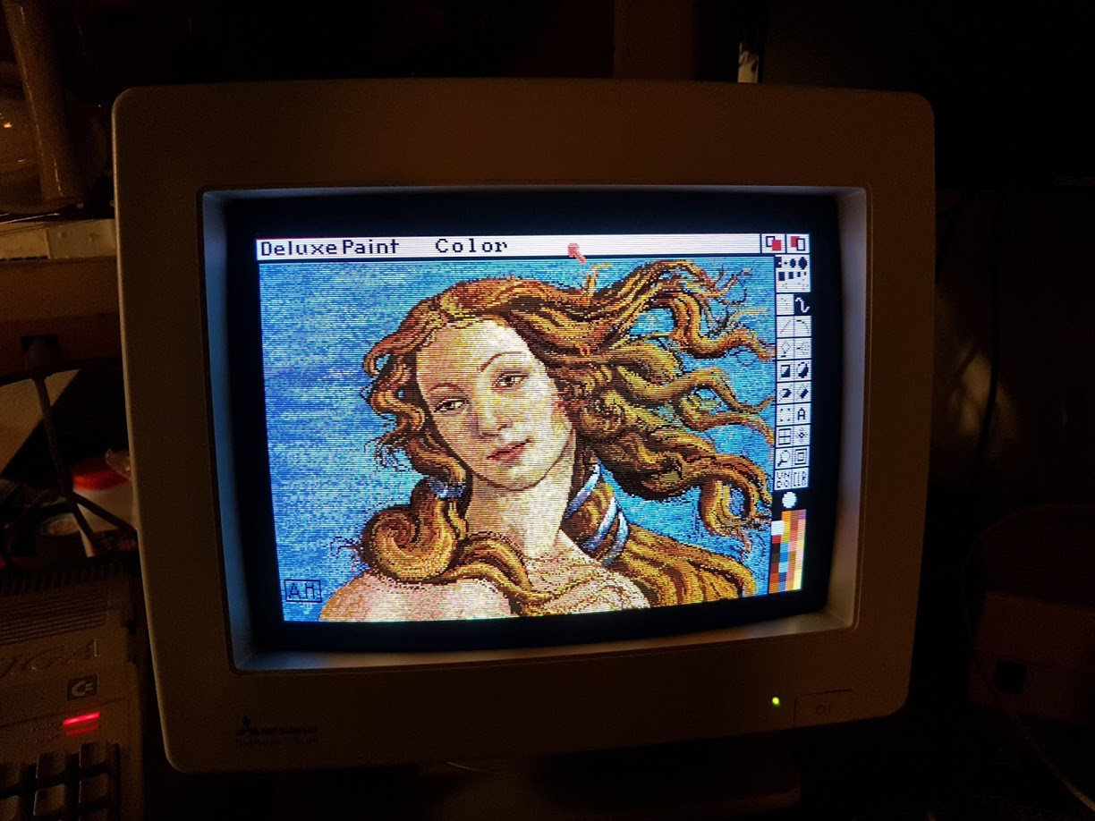 "32 -  ""I have the original Deluxe Paint III floppies including the art disc. It was a real nostalgic blast to look at the old classic files like Venus and King Tut."""