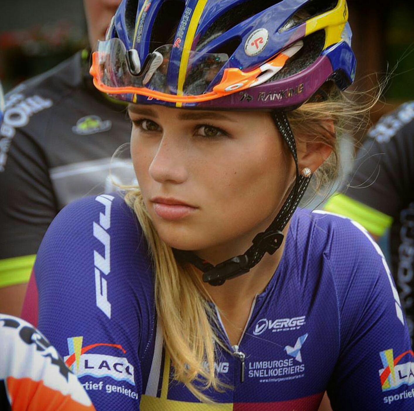 1 - Puck Moonen is a 20-year-old Dutch cyclist who competes for the Autoglas Wetteren Cycling Team.