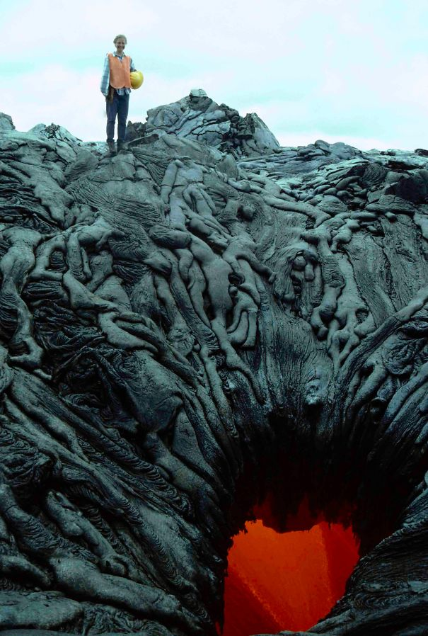 8 - Lava pit that looks like it is sucking the lost souls into the depth of hell.