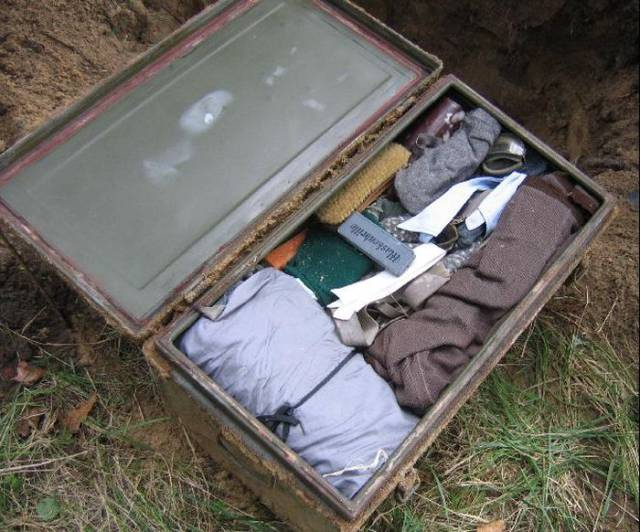 5 - It was filled with stuff from WW2.