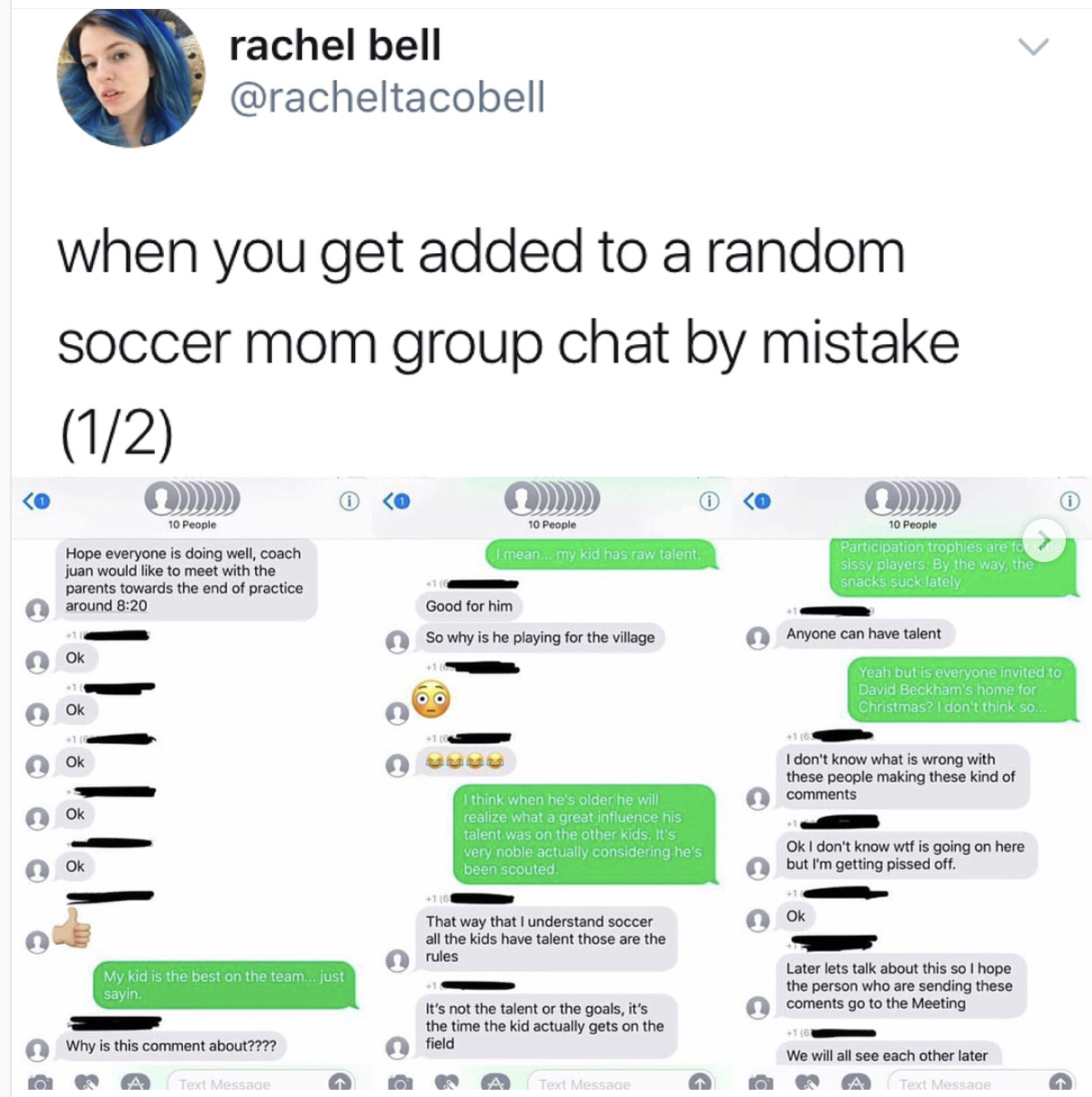 Woman Trolls A Group Of Soccer Moms After Accidentally