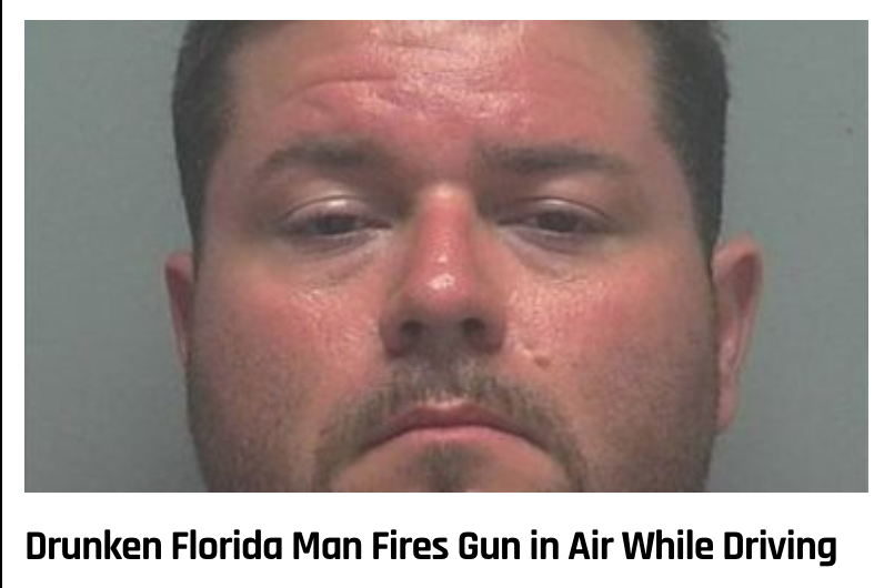3 - Massive Tale Of The Fabled Florida Man's Exploits