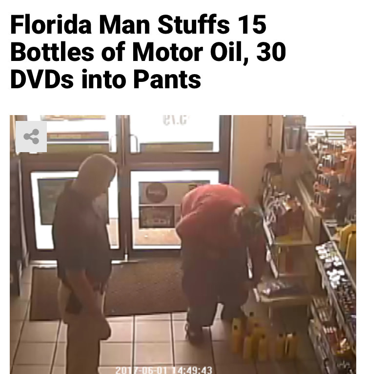 47 - Massive Tale Of The Fabled Florida Man's Exploits