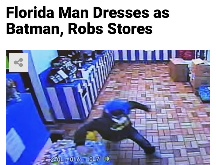 65 - Massive Tale Of The Fabled Florida Man's Exploits