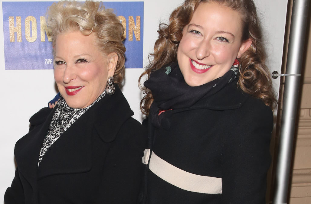 4 - Bette Midler and her daughter Sophie von Haselberg.