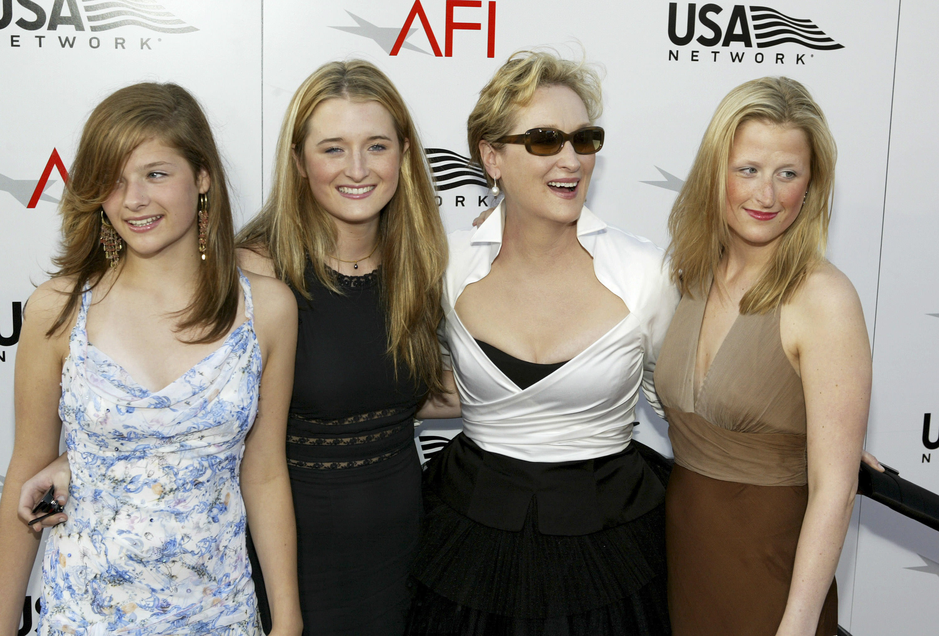 5 - Meryl Streep and her daughters Mamie, Grace and Louisa Gummer.