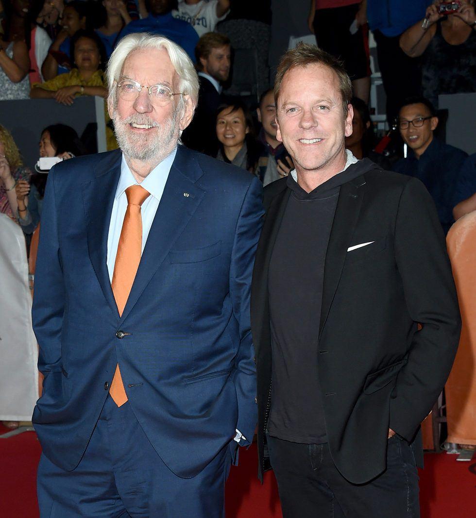 6 - Donald and Kiefer Sutherland.