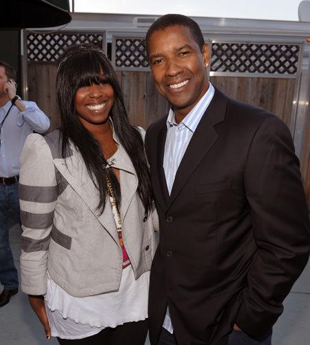 18 - Denzel Washington and his daughter Katia Washington.