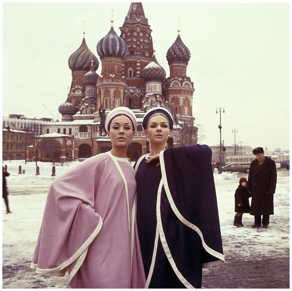 15 - Models pose for a picture in Moscow, USSR in 1965.