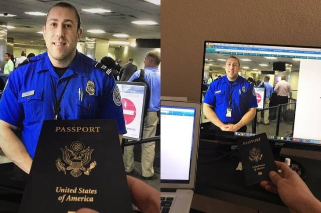 3 - passport at customs. passport and computer with customs image online.