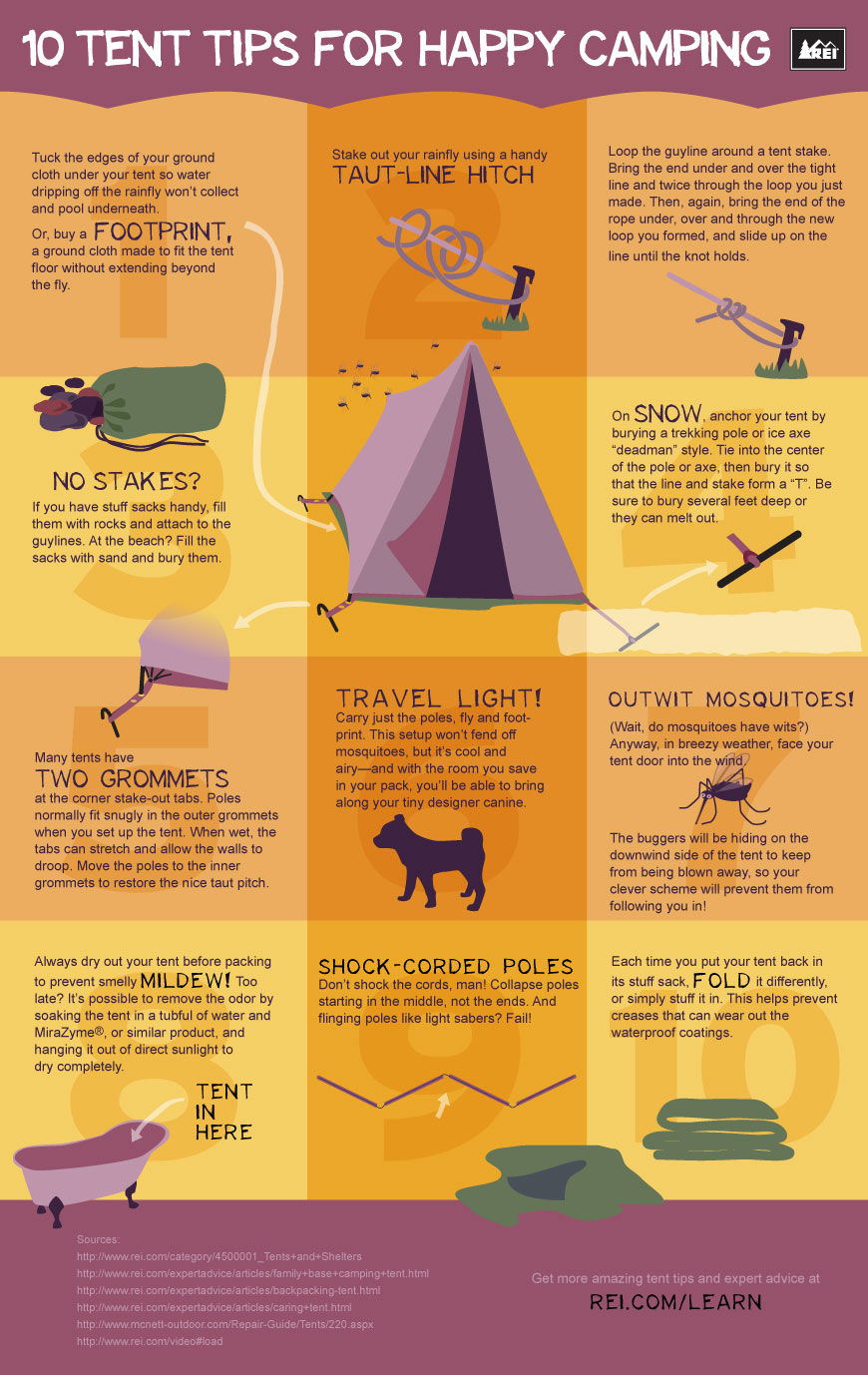Camping Life Hacks And Tips