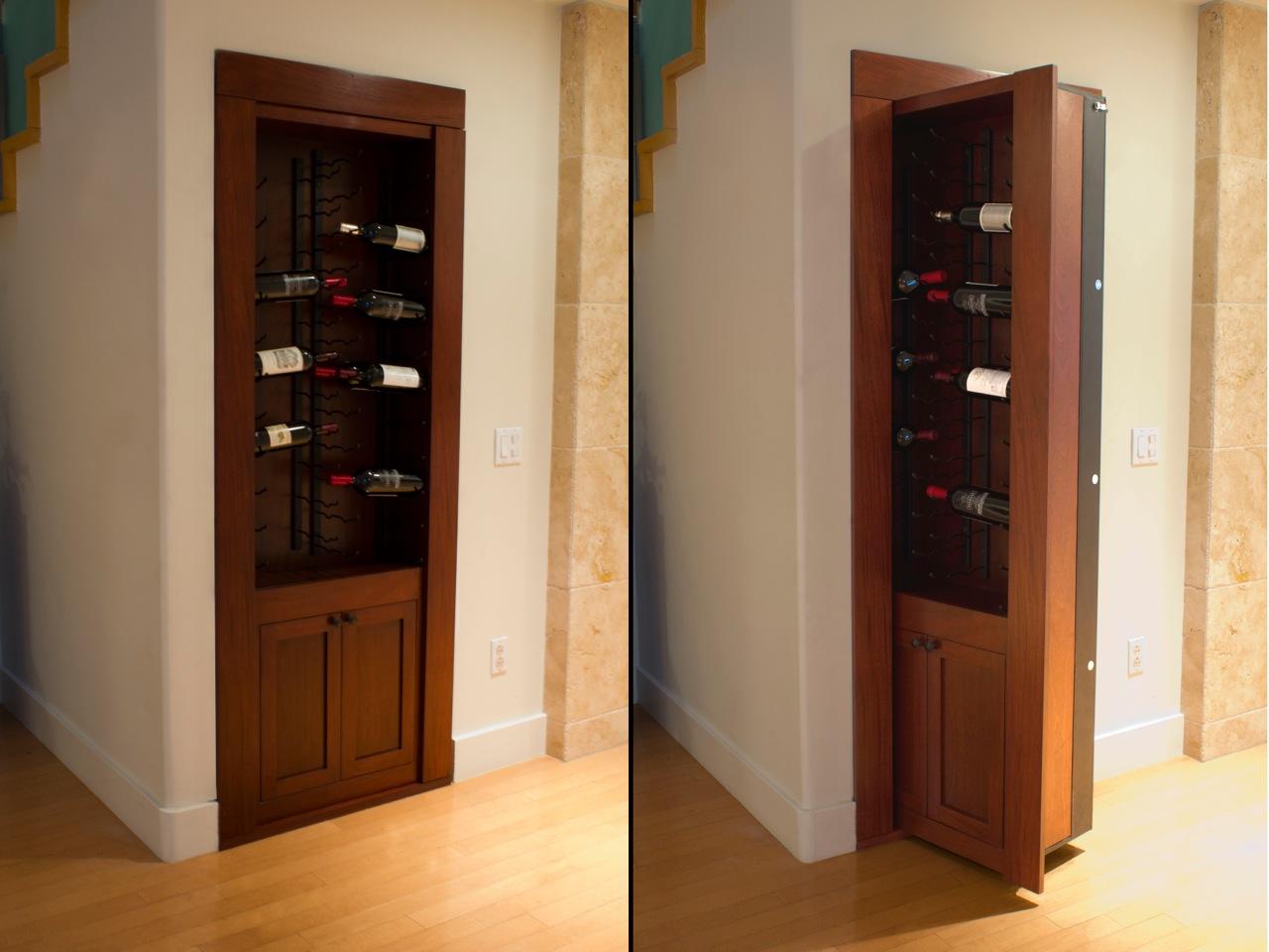 Как сделать потайную дверь: прячем двери в интерьере.