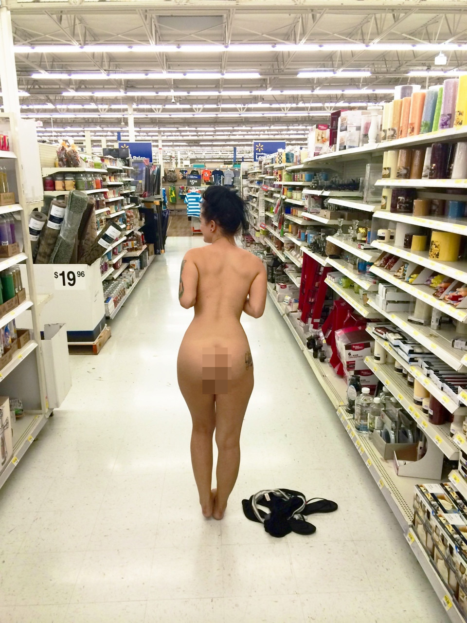 Naked people at walmart commit error