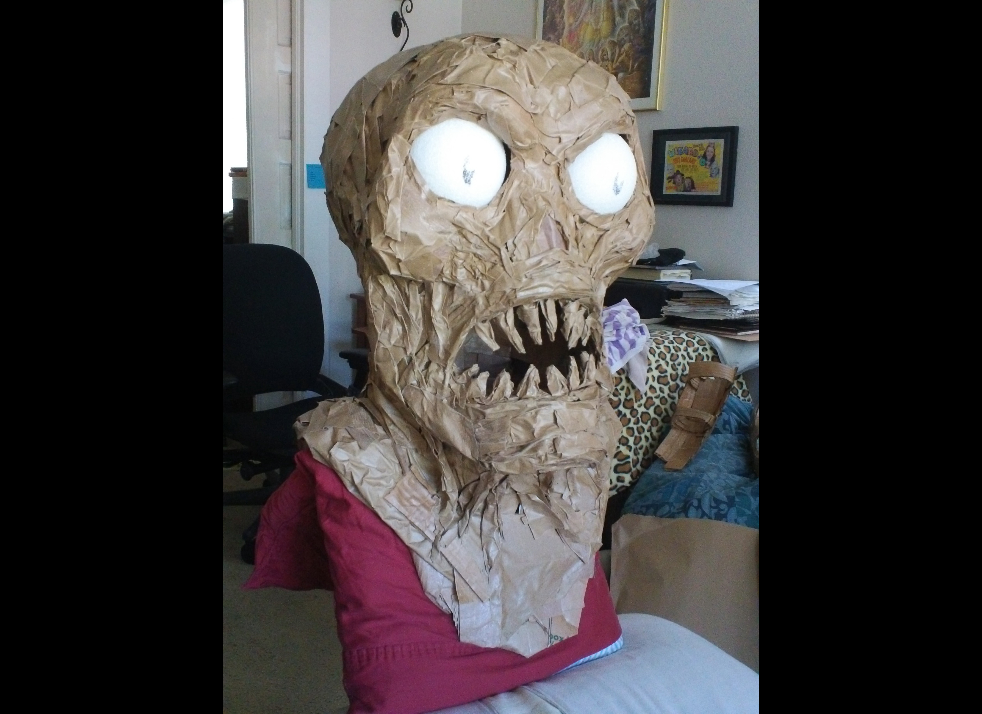 Epic Homemade Troll and Creature Costumes - creation progress ...