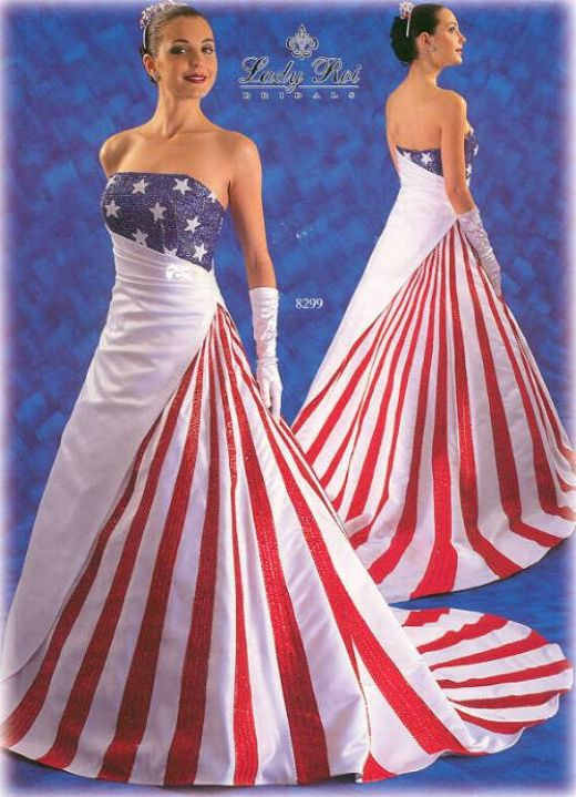 Cheap wedding dresses red and white stripes