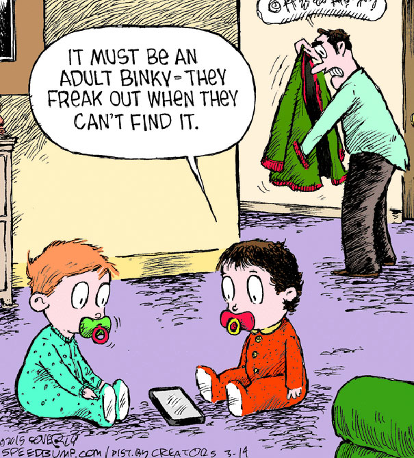 28 clever technology addiction cartoons   wow gallery