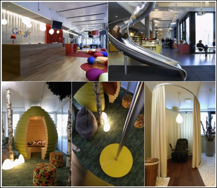 3 google offices around the world office slides