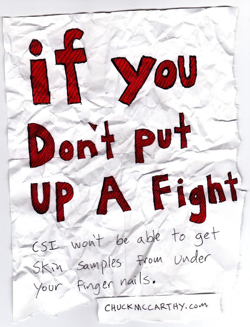 put up a good fight idiom