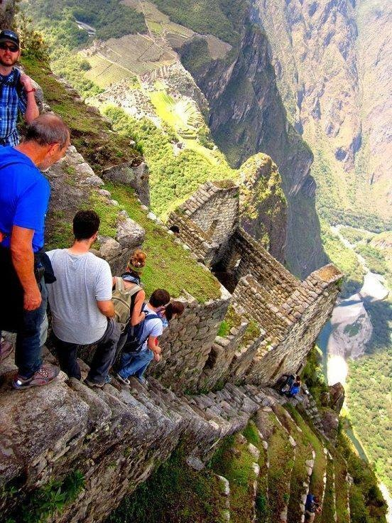 5 - Vertical stairs at Machu Picchu in Peru
