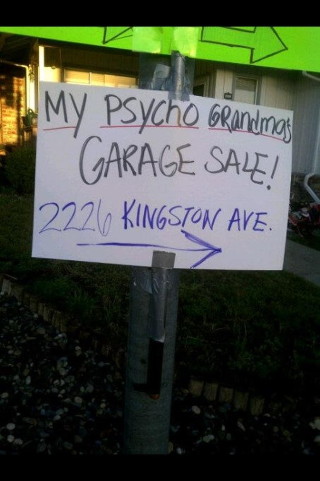 2 27 garage sale signs that nailed it