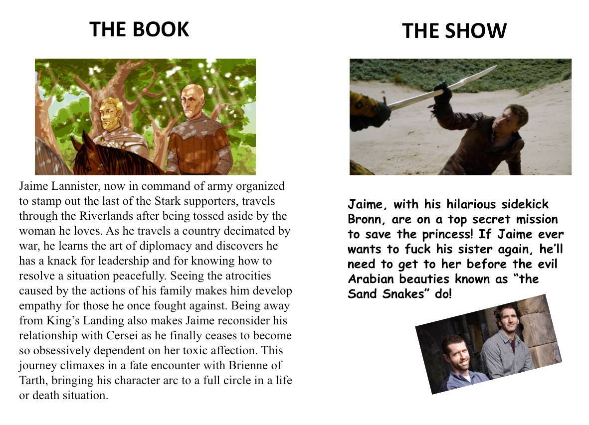Game of thrones books vs show reddit