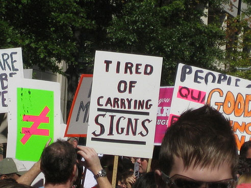 More Funny And Stupid Protest Signs - Gallery