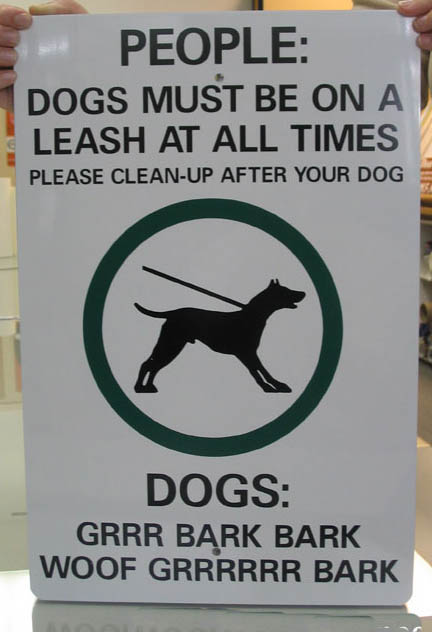 funny dog sign   picture ebaum s world
