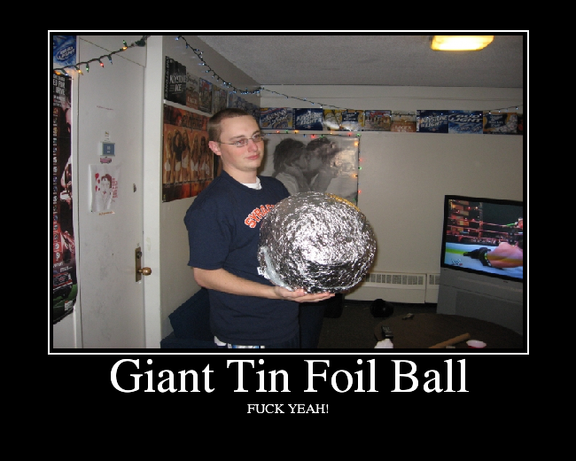 Giant Tin Foil Ball - Picture   eBaum's World