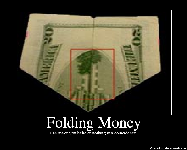 Money folding twin towers wallpapers