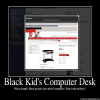 Black Kid's Computer Desk