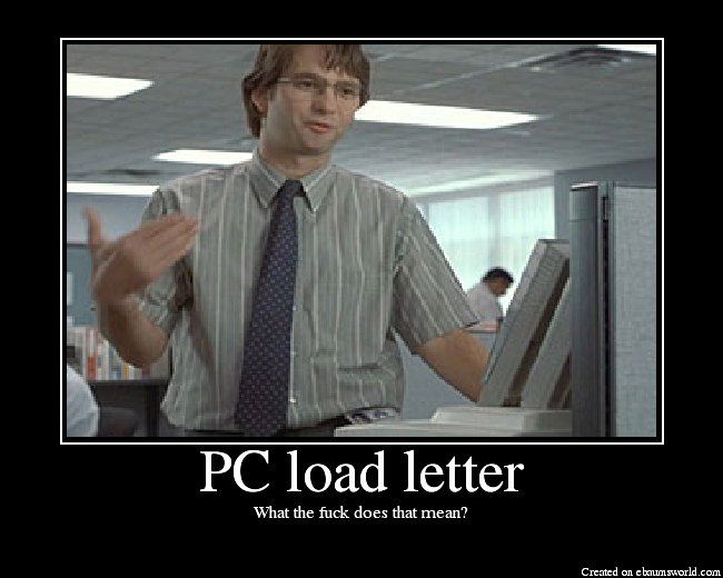 pc load letter picture ebaums world
