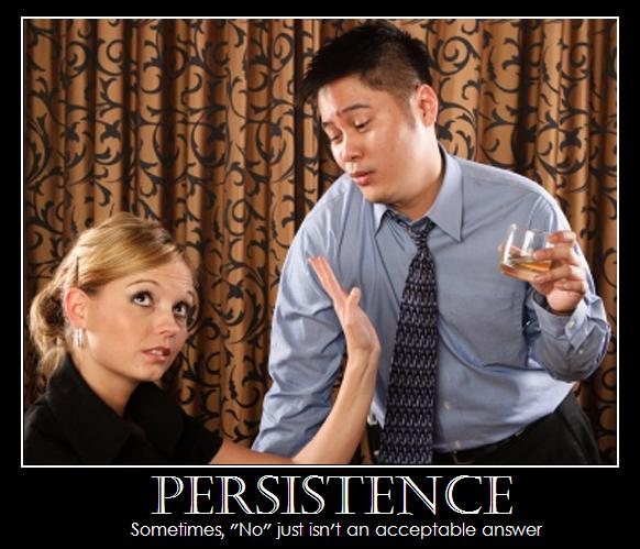 Persistence Motivational Quotes: De-Motivational Poster - Persistence - Picture