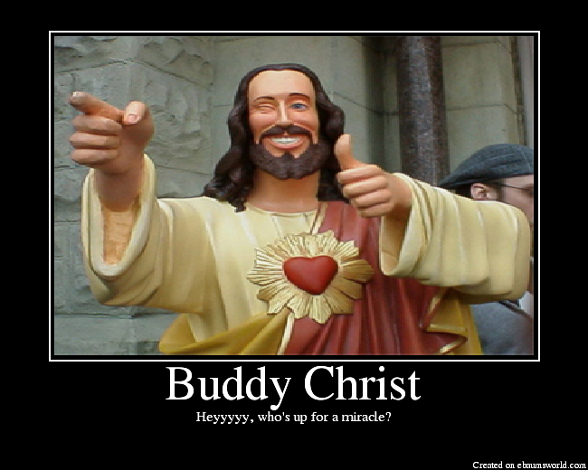 Buddy Christ via eBaum's World.
