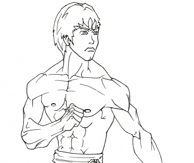 bruce lee coloring pages - photo#12
