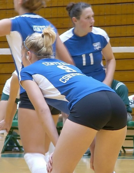 girls bent volleyball over Sexy