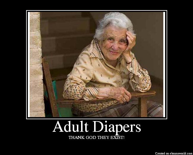Adult diaper poise