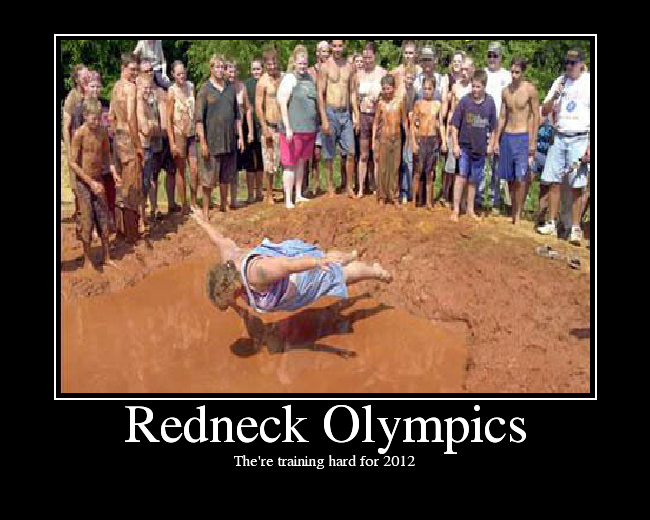 Redneck Olympics. The're training hard for 2012