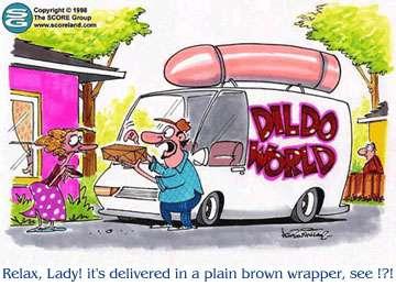 a Dildo wrapper in