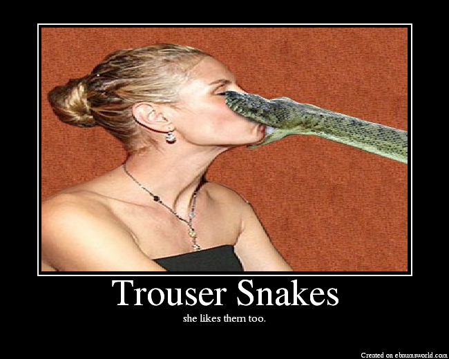 Trouser Snakes http://www.ebaumsworld.com/pictures/view/282161/