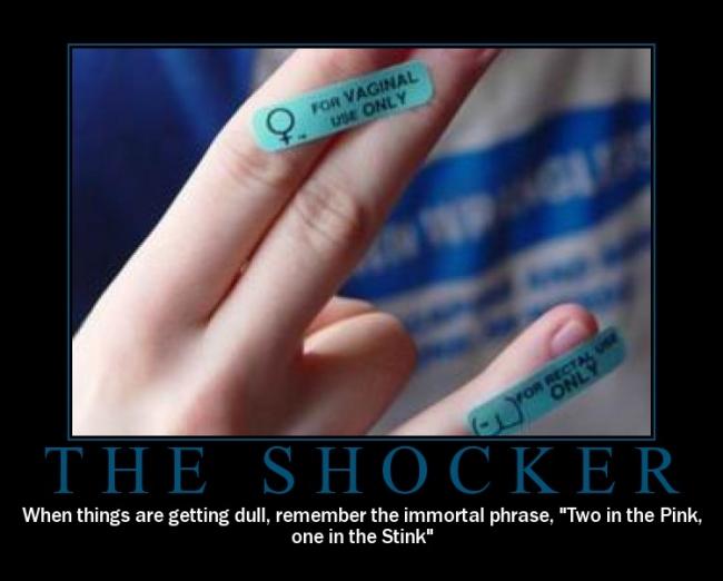 shocker Girl getting