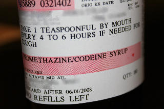 promethazine with codeine and prednisone