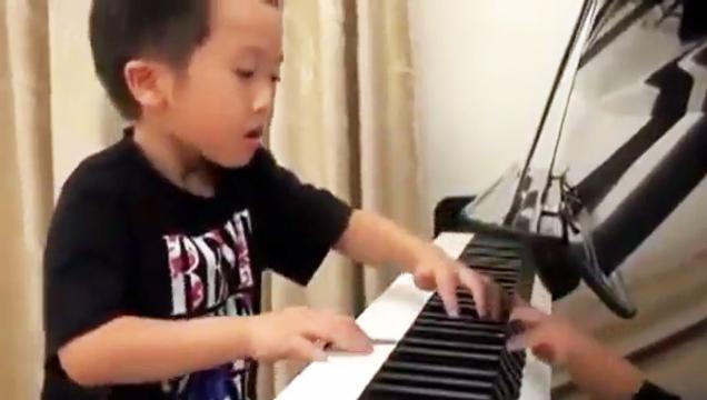4yo Boy Plays Piano Better Than Master view on ebaumsworld.com tube online.