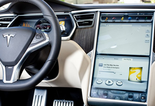 Dashboard of the Tesla Model S.