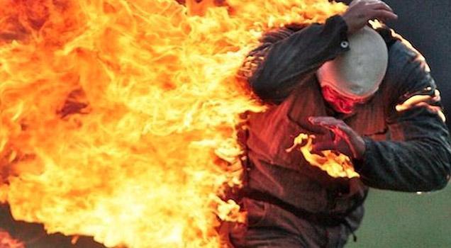 Arsonist Sets Himself On Fire - Video | eBaum's World