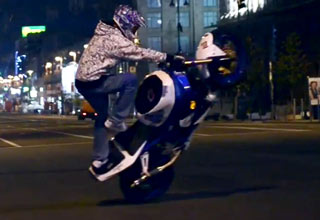 Night Ride - Motorcycle Stunts