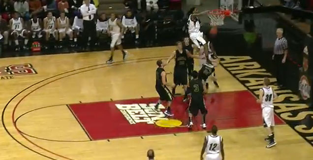 Victor Dukes Goes Beast Mode With Dunk view on ebaumsworld.com tube online.
