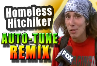 Homeless Hitchhiker - AUTOTUNE REMIX